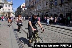 Ретро-заїзд на велосипедах, Львів, травень 2017 року