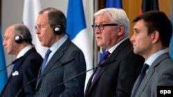 Зустріч міністрів закордонних справ України, Франції, Німеччини та Росії у «нормандському форматі». Архівне фото