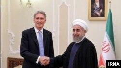 Մեծ Բրիտանիայի արտգործնախարար Ֆիլիպ Համոնդը և Իրանի նախագահ Հասան Ռոհանին
