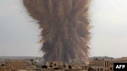 Взрыв в районе города Мааррат-эн-Нууман в Сирии (иллюстративное фото)