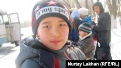Ученик 4-го класса Ахмет. Село Туганбай Алматинской области, март 2012 года.