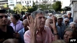 Очередь у банка в Афинах, 1 июля 2015 года.