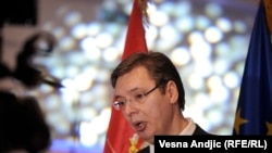 Premijer Srbije Aleksandar Vučić na proslavi otvaranja prvih pregovaračkih poglavlja Srbije i EU