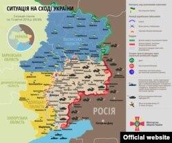 Сытуацыя на ўсходзе Ўкраіны на 15 красавіка 2016