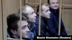 Українські військові моряки у російському суді. 15 січня 2019 року