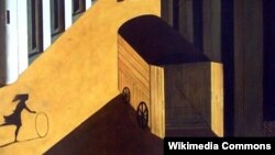 Джорджа дэ Кірыка, «Мэлянхолія і таямніца вуліцы» (1914). Фрагмэнт
