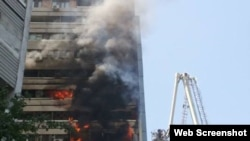 Residential building fires it Tashkent