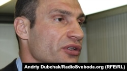 World heavyweight boxing champion and Ukrainian opposition politician Vitali Klitschko