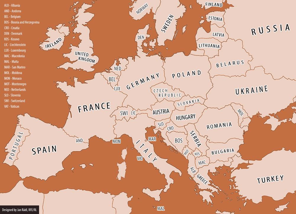 karta europa 2014 Map of europe 2014 karta europa 2014