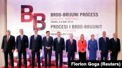 Liderët rajonalë gjatë takimit të Procest të Brdo-Brijonit që është mbajtur në Shqipëri. Foto nga arkivi.