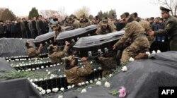 Yerevanda - Azərbaycan ordusunun vurduğu vertolyotun pilotları dəfn edilir, 24 noyabr, 2014