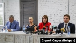 Opoziția din Belarus anunță formarea Consiliului de Coordonare, Minsk, 18 august 2020.