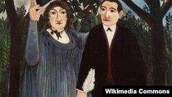 Un portret al lui Apollinaire alături de Marie Laurencin al lui Henri Rousseau Vameșul, 1909