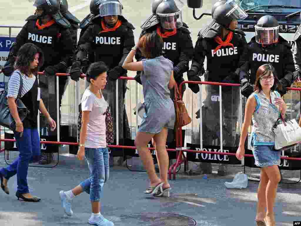 Тайлянд. У Бангкоку паліцыя гатовая да разгону дэманстрантаў