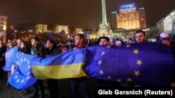 Первый день «Евромайдана». Киев, 21 ноября 2013 года.