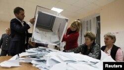 Работа избиркома в Южной Осетии. Ноябрь 2011 г