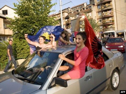 Kosovski Albanci slave mišljenje Međunarodnog suda pravde, 22, juli, 2010. godine
