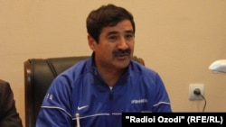 Afghanistan's national soccer coach Mohammad Yusuf Kargar