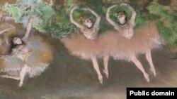 Эдгар Дэга, «Сцэна з балету» (1879)