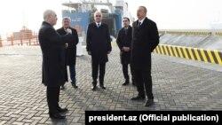 İ.Əliyev Ro-Ro terminalının açılışında