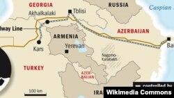Bakı-Tbilisi-Kars dəmiryolu xətti