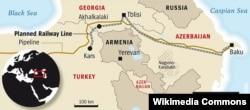 Bakı-Tbilisi-Qars dəmir yolu sxemi