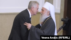 Tomislav Nikolic i patrijarh srpski Irinej, arhivski snimak