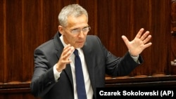 NATO Secretary-General Jens Stoltenberg at the NATO Parliamentary Assembly in Warsaw last month