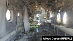هلیکوپتری که در ولسوالی کجکی ولایت هلمند هدف راکت قرار گرفت. Jan.25.2020