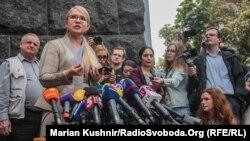 На брифінгу Тимошенко прокоментувала і своє можливе призначення на посаду прем'єра