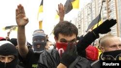Националисты на Русском марше. Москва, 2014 год