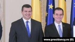 Liderul PMP Eugen Tomac și premierul Ludovic Orban