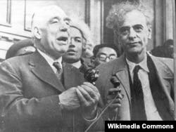 Нильс Бор (слева) и Лев Ландау