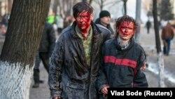 Поранені люди внаслідок сутичок з міліцією, 18 лютого 2014 року