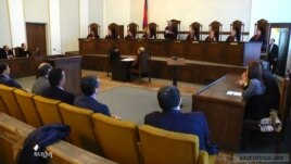 Armenia - Constitutional Court announces its verdict on the controversial new pension law, Yerevan,02 April 2014