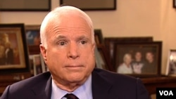 """U.S. Senator John McCain: """"When you look at all the human rights organizations in the world, they will tell you that Russia is not free, and it's a very bad environment."""""""