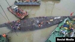 Робота рятувальників на місці трагедії «Східної зірки»
