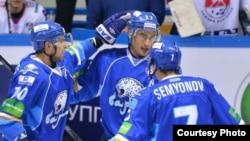 «Барыс» хоккей командасының ойыншылары. Астана, 15 қазан 2013 жыл. (Көрнекі сурет)