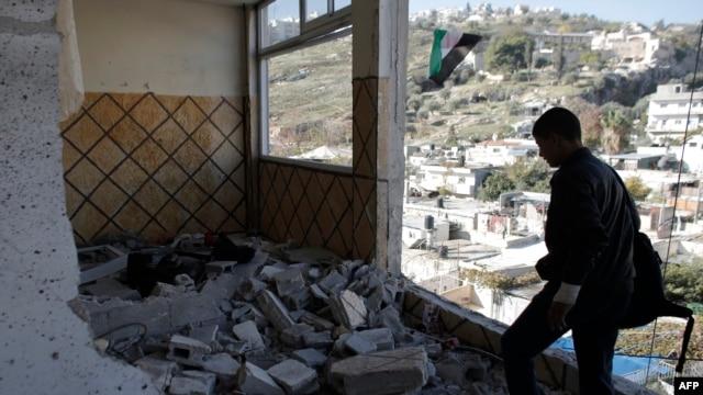 خانه عبدالرحمان الشلعودی، مهاجمی که ماه گذشته دو اسرائیلی را به قتل رساند.