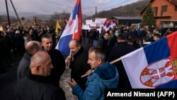 Kosovo's Serbs protested against the Pristina government's 100 percent tariffs on goods from Serbia (file photo).