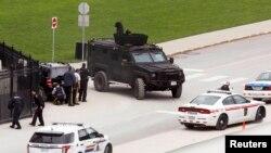 В районе нападения в парламенте Канады (Оттава, 22 октября 2014 года)