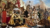 """Ян Матейко, """"Стефан Баторий во Пскове"""" (1872). На самом деле Ливонскую войну Московия проиграла, но Псков не сдала"""