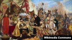Стефан Баторий под Псковом. Художник Ян Матейко. 1872