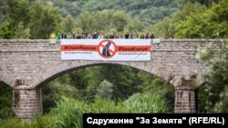 """През 2017 г. бе одобрен вариант, с който настоящият път през Кресна ще бъде използван като част от АМ """"Струма"""" в посока София - Кулата"""