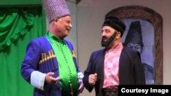 Məşədi İbad tamaşasından bir səhnə.