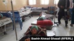 شماری از نیروهای خیزش که در حمله طالبان مسلح در ولسوالی نهرین بغلان زخمی شدند جهت مداوا به شفاخانه مرکزی بغلان منتقل شدهاند. June 29 2019