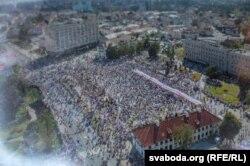 У Горадні на мітынг сабраліся каля 30 тысяч чалавек