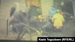Майдан туралы деректі фильмнен көрініс. Алматы, 27 тамыз 2014 жыл.