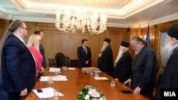 Средба на премиерот Заев и владини министри со поглаварот Стефан и претставници на МПЦ-ОА