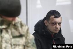 Лідер громадської організації «Цивільний корпус Азов-Крим» Станіслав Краснов під час засідання Шевченківського районного суду. Київ, 1 березня 2016 року